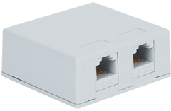 ICC Cabling Products: IC625S52WH White 8P8C Dual Cat5e Surface Mount Jack