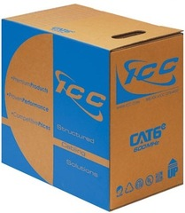 ICC: ICCABP6EBL Cat6e 600 MHz Plenum Rated Cable 1000ft Blue