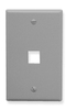 ICC IC107F01GY Grey Single Gang 1 Port Keystone Wall Plate