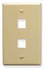 ICC IC107F02IV Ivory Single Gang 2 Port Keystone Wall Plate