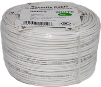 Security Wire: 22/2 Solid Alarm Wire 500ft Coil Pack White