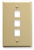 ICC IC107F03IV Ivory Single Gang 3 Port Keystone Wall Plate