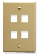 ICC Cabling Products: IC107F04IV 4 Port Keystone Wall Plate