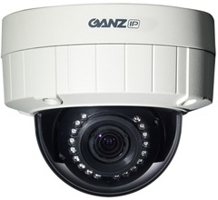 Ganz: ZN-DT2MTP-IR H.264 1080p HD Outdoor Infrared IP Dome Camera
