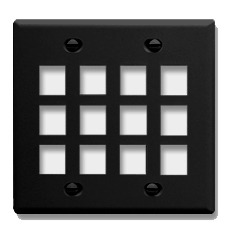ICC Cabling Products: IC107F12BK 12 Port Keystone Wall Plate