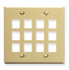 ICC IC107F12IV Ivory Double Gang 12 Port Keystone Wall Plate