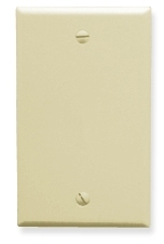 ICC Cabling Products: Blank Almond 1 Gang Wall Plate