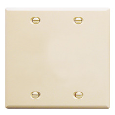 ICC Cabling Products: Blank Almond 2 Gang Wall Plate