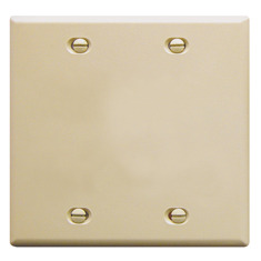 ICC Cabling Products: Blank Ivory 2 Gang Wall Plate