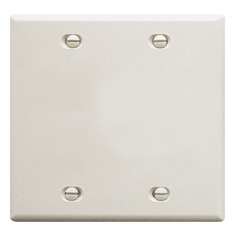 ICC Cabling Products: Blank White 2 Gang Wall Plate