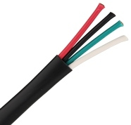 Cabling Plus: Black 16-4 Plenum Speaker Cable