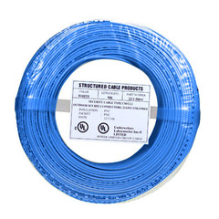 SCP: 500ft 22/2 Alarm Wire Blue Coil Pack