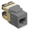 ICC IC1076F0GY High Density Voice RJ11 Keystone Jack Gray