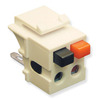 ICC Cabling Products IC107DSCAL Almond Speaker Keystone Jack
