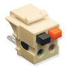 ICC Cabling Products IC107DSCIV Ivory Speaker Keystone Jack
