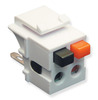 ICC IC107DSCWH White Speaker Keystone Jack