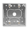 ICC ICACSMBDWH White 2 Gang Junction Wall Plate Mounting Box