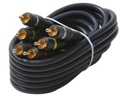 254-340BL: 100 ft 3 RCA Home Theater Cable