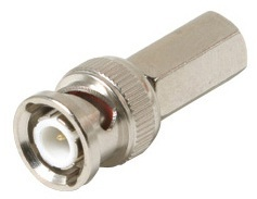 200-142: Twist-On RG59 Coaxial Cable BNC Connector