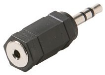 251-004: 2.5mm Stereo Jack to 3.5mm Stereo Plug Adapter