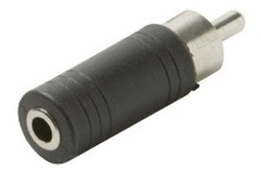 251-150: 3.5mm Mono Jack to RCA Plug Adapter