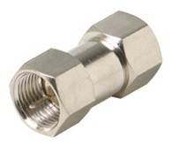 200-100: F to F Plug Coaxial Cable Adapter