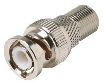 200-130: Coaxial Cable F to BNC Adapter
