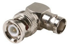 200-158: Right Angle BNC Jack to Plug Adapter