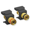 ICC IC107PMGBK Black Speaker Binding Post Keystone Jack Pair