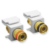 ICC IC107PMGWH White Speaker Binding Post Keystone Jack Pair