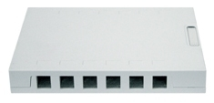 ICC Cabling Products: IC107SBTWH 12 Port Surface Mount Box