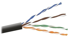 Cabling Plus: CMR Rated 350 MHz Black Cat5e Cable