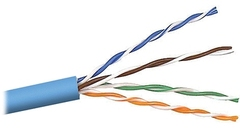 Cabling Plus: CMR Rated 350 MHz Blue Cat5e Cable