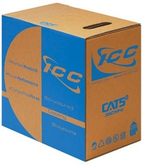 <p>ICC Cabling Products: CMR Rated 350 MHz Blue Cat5e Cable</p>