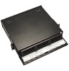 ICC ICFOR306BK 6 Panel Fiber Optic Rack Mount Enclosure 3 RMS