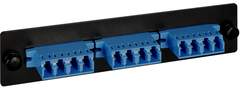 <p>ICC Cabling Products: ICFOPL16BK LC Adapter Panel</p>