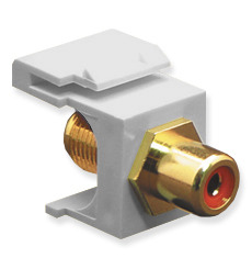 ICC Cabling Products: IC107RFGWH RCA to F Keystone Jack