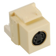 ICC Cabling Products: IC107SVIAL S Video Keystone Jack