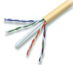 Cabling Plus: CMR Rated 550 MHz Yellow Cat 6 Cable