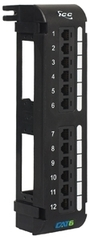 <p>ICC Cabling Products: ICMPP12V60 Cat 6 Vertical 12 Port Patch Panel</p>