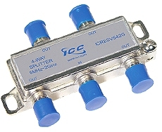 ICC Cabling Products: 1X4 2 GHz Coaxial Cable Splitter