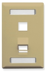 ICC Cabling Products: Ivory 2 Port Angled Station ID Wall Plate