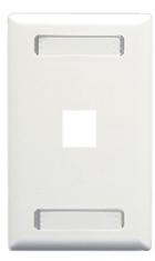 ICC Cabling Products: 1 Port White Station ID Wall Plate