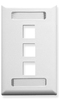 ICC Cabling Products: White 3 Port Station ID Wall Plate
