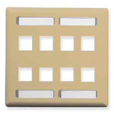 ICC Cabling Products: Ivory 8 Port Station ID Wall Plate