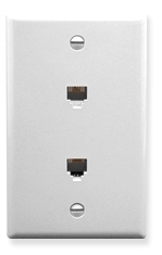 ICC Cabling Products: White Dual 6P6C Integrated Wall Plate