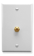 ICC Cabling Products: White F Type Integrated Wall Plate