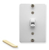 ICC Cabling Products: White 6P6C Telephone Wall Plate