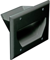Datacomm: 45-0003-BK 3 Gang Home Theater Plate