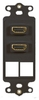 ICC Cabling Products: IC107DDHBK Dual HDMI Decora Insert